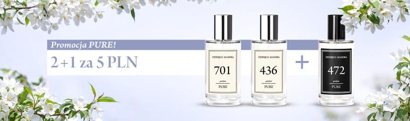 Perfumy FM Pure z nowej kolekcji w promocji 2 + 1 za 5zł