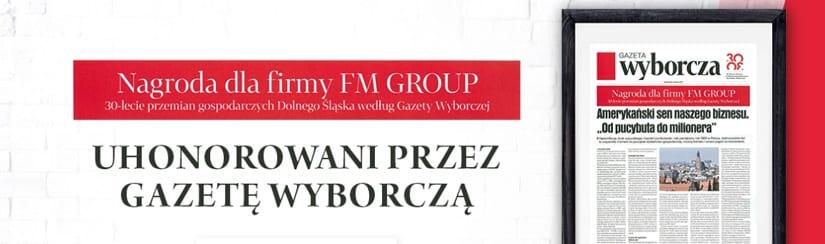 Nagroda dla firmy FM Group